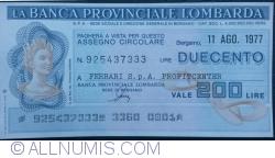 200 Lire 1977 (11. VIII.) - Bergamo (FERRARI S. p. A.  PROFITCENTER)