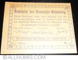 Imaginea #2 a 50 Heller 1920 - Grünburg (Prima emisune - 1. Auflage)