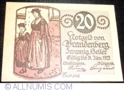 Imaginea #1 a 20 Heller ND - Brandenberg (A III-a emisune - 3. Auflage)