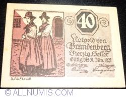 Imaginea #1 a 40 Heller ND - Brandenberg (A III-a emisune - 3. Auflage)