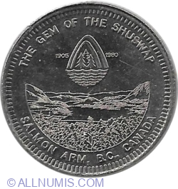 Image #2 of District of Salmon Arm - 1 Dollar - 75th Anniversary