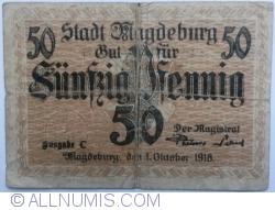 Imaginea #1 a 50 Pfennig 1918 - Magdeburg