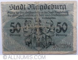 Imaginea #2 a 50 Pfennig 1918 - Magdeburg
