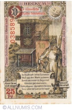 Imaginea #2 a 25 Pfennig 1920 - Beckum