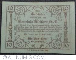 Imaginea #2 a 10 Heller 1920 - Weibern