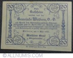 Imaginea #2 a 20 Heller 1920 - Weibern