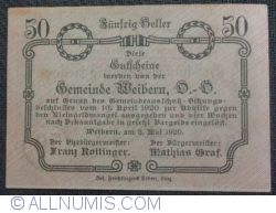 Imaginea #2 a 50 Heller 1920 - Weibern