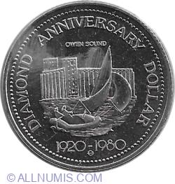 Image #2 of 1 Dollar 1980 - Owen Sound