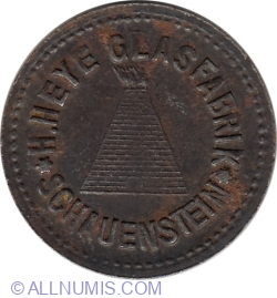 Image #2 of 1 Pfennig 1918 - Schauenstein (Glass factory)