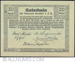 Image #2 of 20 Heller 1920 - Haindorf