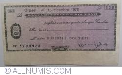 Imaginea #1 a 100 Lire 1976 (15. XII.) - Ortisei