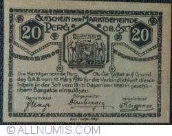 Imaginea #2 a 20 Heller 1920 - Perg