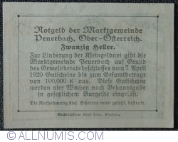 Imaginea #2 a 20 Heller 1920 - Peuerbach