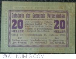 Image #1 of 20 Heller 1920 - Peterskirchen