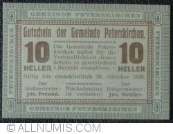 Image #1 of 10 Heller 1920 - Peterskirchen