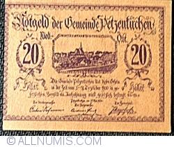 Imaginea #2 a 20 Heller 1920 - Petzenkirchen