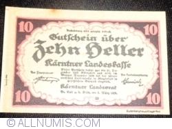 Imaginea #1 a 10 Heller 1920 - Carintia (Kärnten)