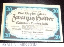 Imaginea #1 a 20 Heller 1920 - Carintia (Kärnten)