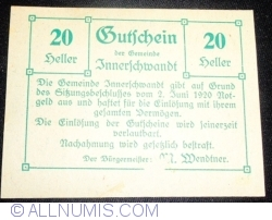Image #1 of 20 Heller 1920 - Innerschwandt
