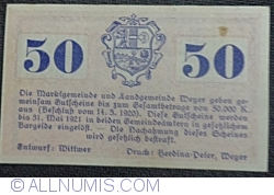 50 Heller 1920 - Weyer Markt and Weyer-Land