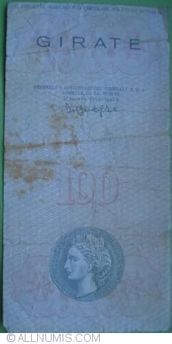 Image #2 of 100 Lire 1977 (18. II.) - La Spezia (Banca Populare della Spezia e della Lunigiana)