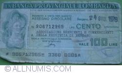 Image #1 of 100 Lire 1976 (4. VI.) - Bergamo