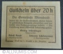 Imaginea #2 a 20 Heller ND - Wimsbach