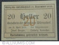 20 Heller 1920 - Würnsdorf