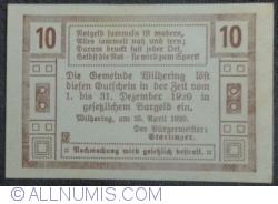 Imaginea #2 a 10 Heller 1920 - Wilhering