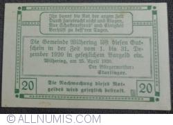 Imaginea #2 a 20 Heller 1920 - Wilhering