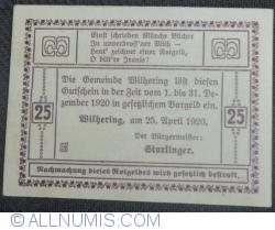Imaginea #2 a 25 Heller 1920 - Wilhering