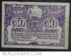 Imaginea #1 a 50 Heller 1920 - Ried im Traunkreis