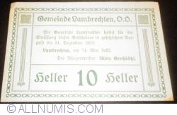 Imaginea #2 a 10 Heller 1920 - Lambrechten