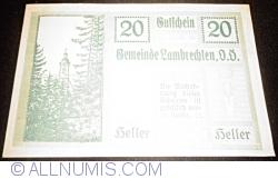Imaginea #1 a 20 Heller 1920 - Lambrechten