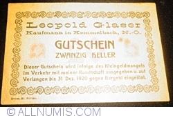 Imaginea #1 a 20 Heller ND - Kemmelbach (Leopold Glaser - Negustor (Kaufmann))