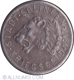 Image #2 of 50 Pfennig 1917 - Solingen