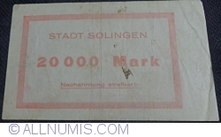 Image #2 of 20000 Mark 1923 - Solingen