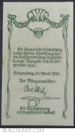 Imaginea #2 a 50 Heller 1920 - Sitzenberg