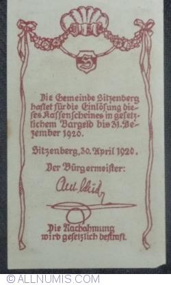 Imaginea #2 a 20 Heller 1920 - Sitzenberg