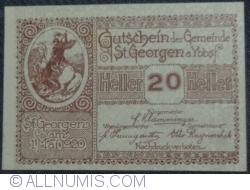 Imaginea #1 a 20 Heller 1920 - Sankt Georgen am Ybbsfelde