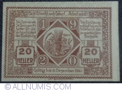 Imaginea #2 a 20 Heller 1920 - Sankt Georgen am Ybbsfelde