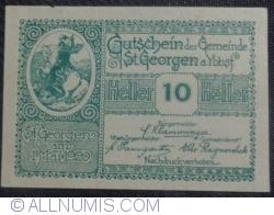 10 Heller 1920 - Sankt Georgen am Ybbsfelde