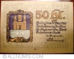 50 Heller 1920 -  Schwanenstadt