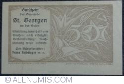 Imaginea #2 a 50 Heller 1920 - Sankt Georgen an der Gusen