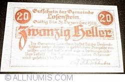 Imaginea #2 a 20 Heller 1919 - Losenstein