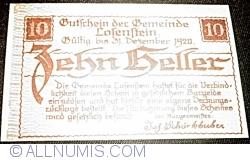 Imaginea #2 a 10 Heller 1919 - Losenstein