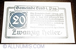 Image #1 of 20 Heller 1920 - Lend im Pinzgau