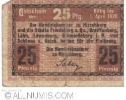 Image #1 of 25 Pfennig ND - Hirschberg