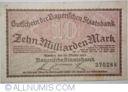 Image #1 of 10 000 000 000 (Milliarden) Mark 1923 (22. X.)