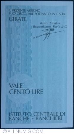 Imaginea #2 a 100 Lire 1977 (25. II.)  - Milano